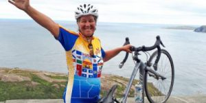 Danielle, Tour du Canada cyclists on Signal Hill