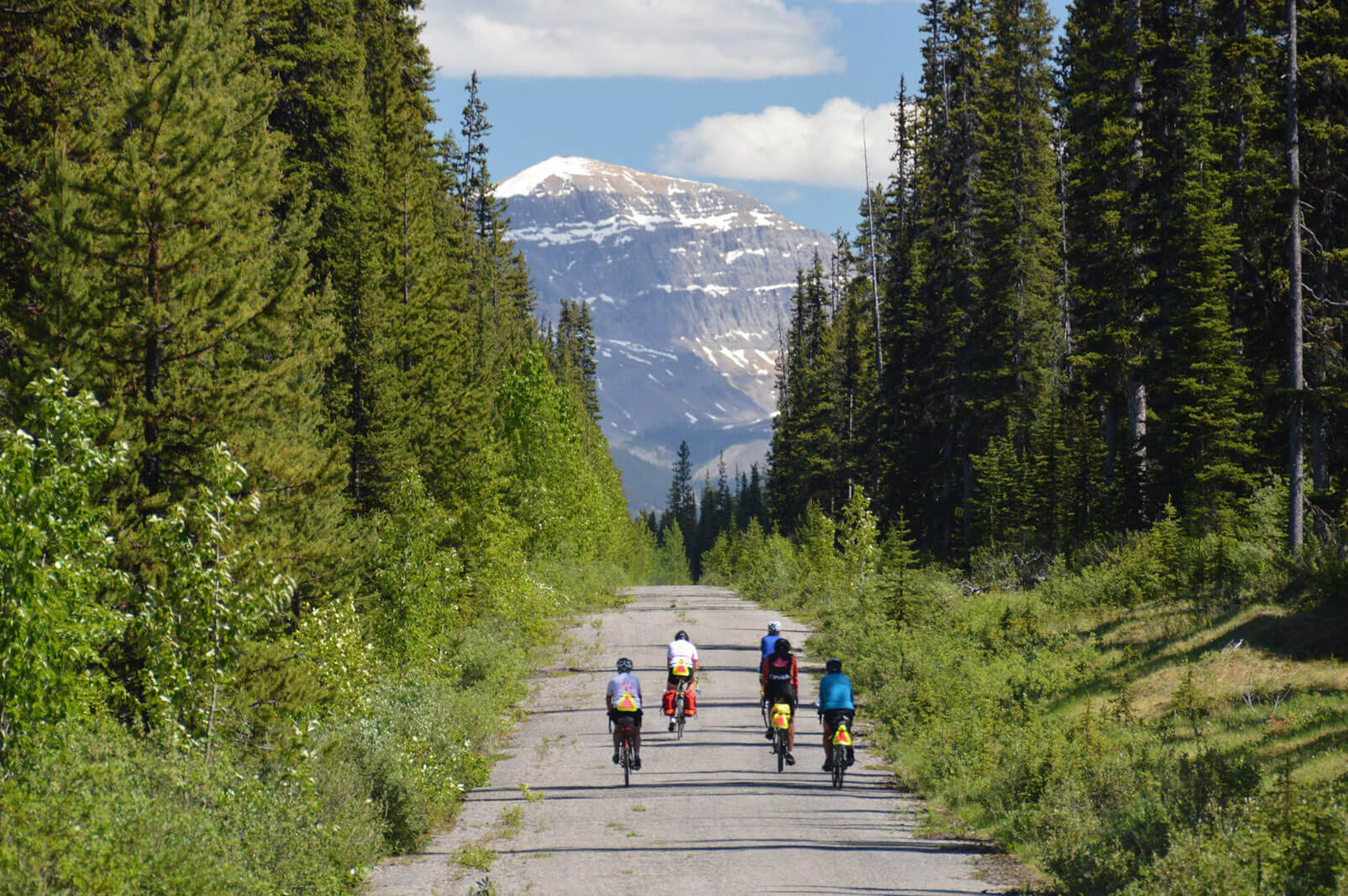 Cycling across Canada, riding to Banff Alberta