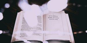 Winter Reading, an open book