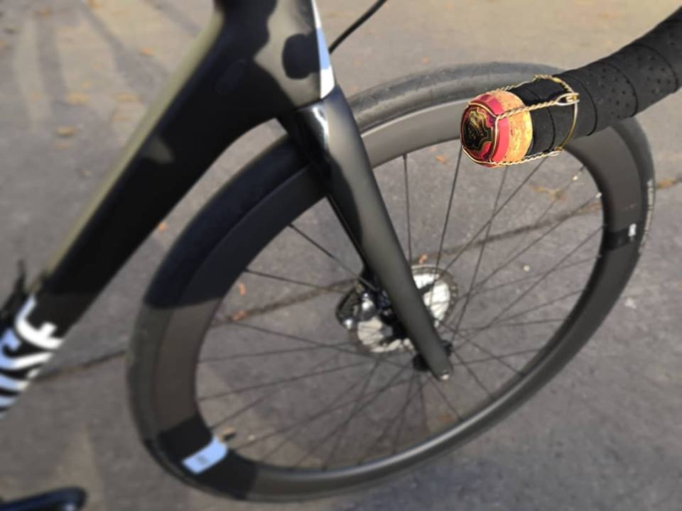 Bike with champagne cork